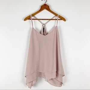 Maurices Tops - Maurices Light Pink Layered Racerback Strappy Tank